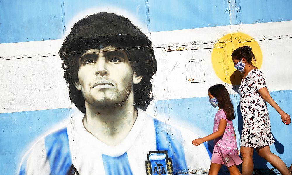 Maradona - graffiti
