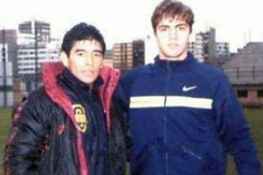 Elias Bazzi, alături de Diego Maradona, în 1996