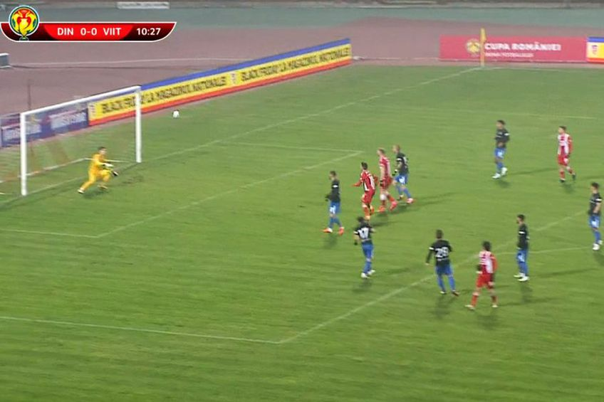 Golul lui Fabbrini. Captură TV Telekom Sport