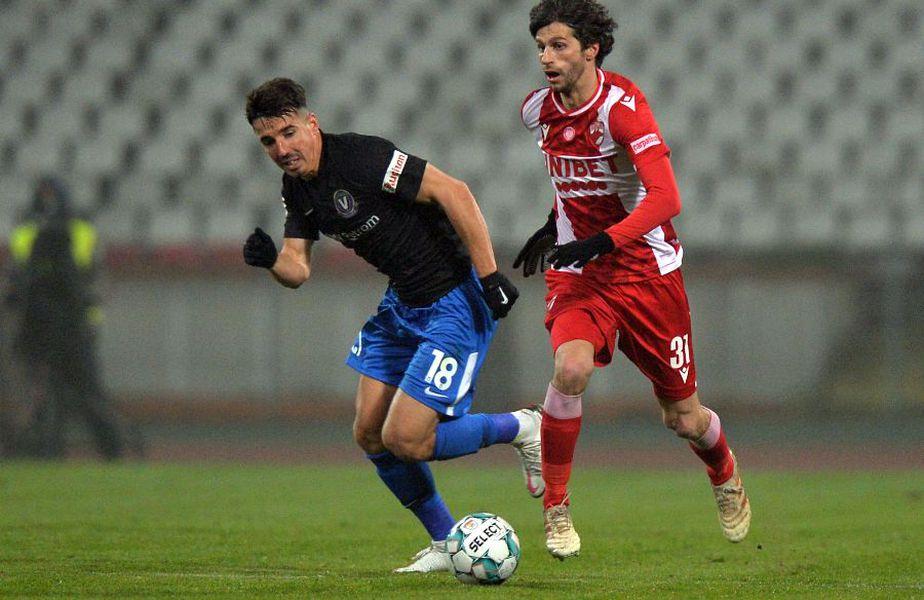 Diego Fabbrini (dreapta), în Dinamo - Viitorul 3-0
