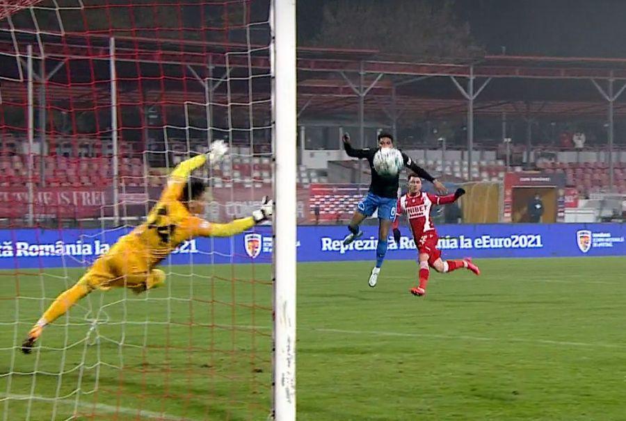 Golul lui Sorescu / Captură TV Telekom Sport