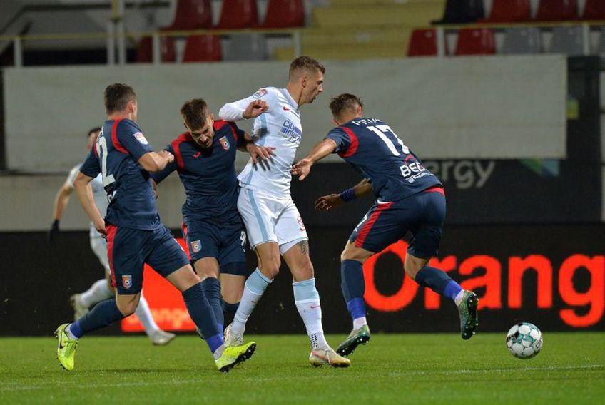 Chindia a fost învinsă de FCSB în tur, scor 2-0