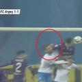 În minutul 87, la scorul de 1-1, Craiova ar fi trebuit să beneficieze de un penalty în meciul cu FC Argeș // Captură Digi Sport