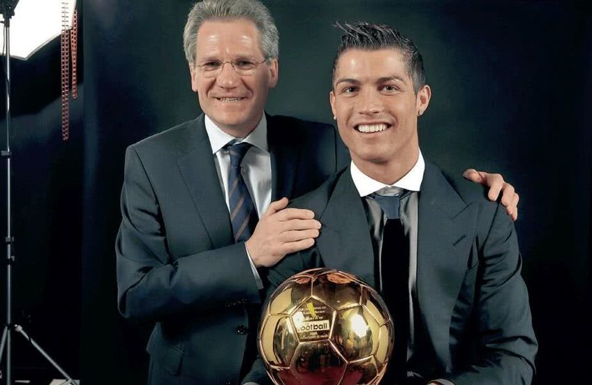 Ladislau Boloni alături de Cristiano Ronaldo