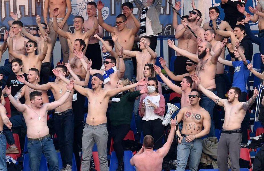 Suporterii lui FC Minsk, Belarus // sursă foto: Twitter