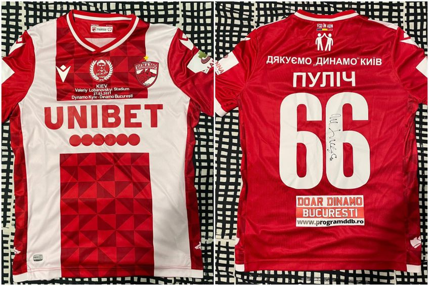 Prețul de pornire pentru tricoul lui Ante Puljic este de 300 de euro // foto: Facebook @ Peluza Catalin Hildan - Dinamo