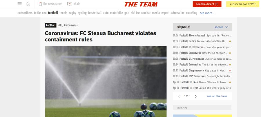 Scandalul de la FCSB a ajuns și în L'Equipe » Ce scriu francezii despre decizia lui Gigi Becali