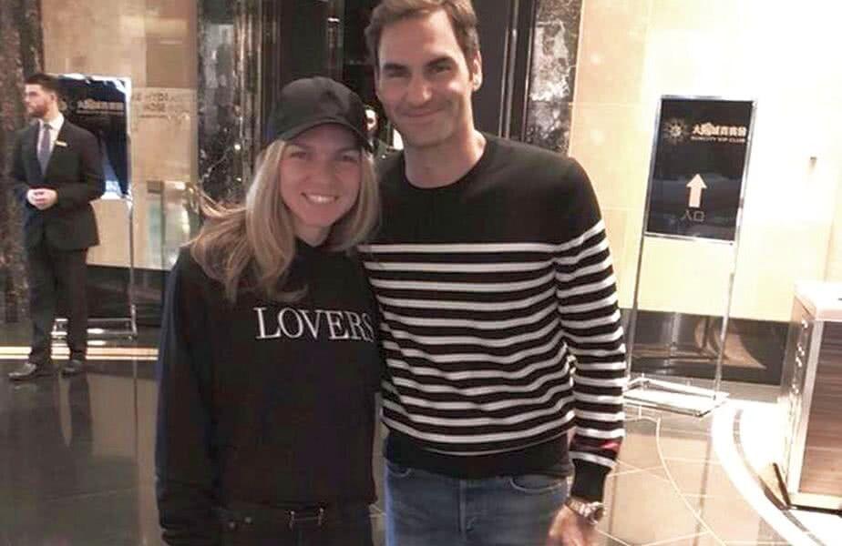 Simona Halep și Roger Federer