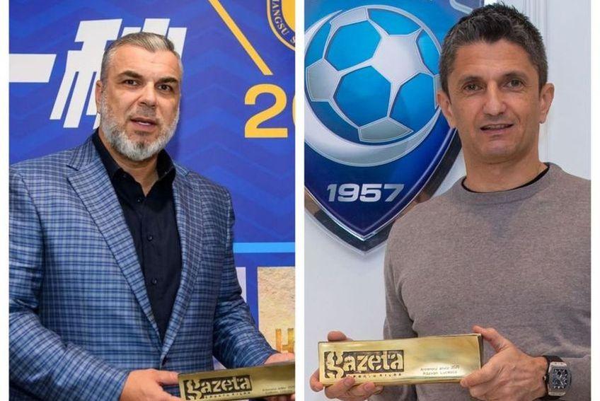 Cosmin Olăroiu și Răzvan Lucescu împart titlul de cel mai bun antrenor român al anului 2020