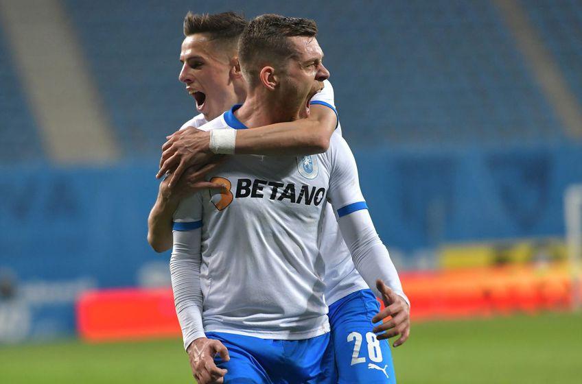 Craiova a învins-o pe FCSB, scor 2-0, în runda a 4-a a play-off-ului din Liga 1.// FOTO: facebook.com/UCVOficial