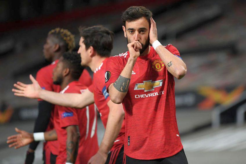 Manchester United a învins-o pe AS Roma, scor 6-2, în manșa tur a semifinalelor Europa League.