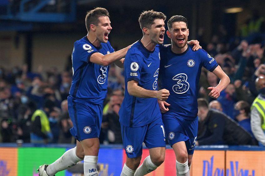 Jorginho, celebrând un gol al lui Chelsea. foto: GuliverGetty Images