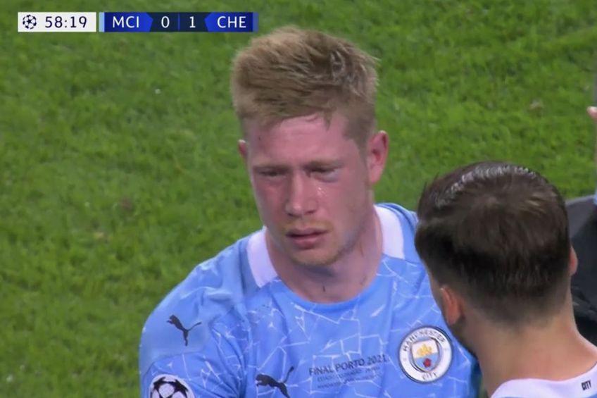 Kevin De Bruyne a ieșit de pe teren în minutul 60 al finalei Ligii Campionilor, Manchester City - Chelsea, la scorul de 1-0 pentru londonezi.