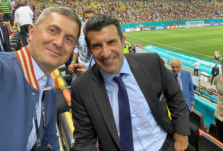 Dan Barna, ironizat după ce s-a fotografiat cu Luis Figo pe Arena Națională