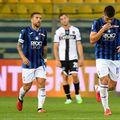 Ruslan Malinovski (dreapta), după golul de 1-1 din Parma - Atalanta // foto: Guliver/gettyimages