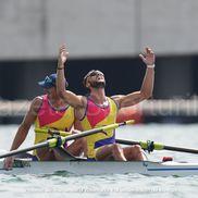 Marius Cozmiuc (28 de ani) și Ciprian Tudosă (24 de ani) au obținut medalie de argint în finala la dublu rame masculin / FOTO: Raed Krishan