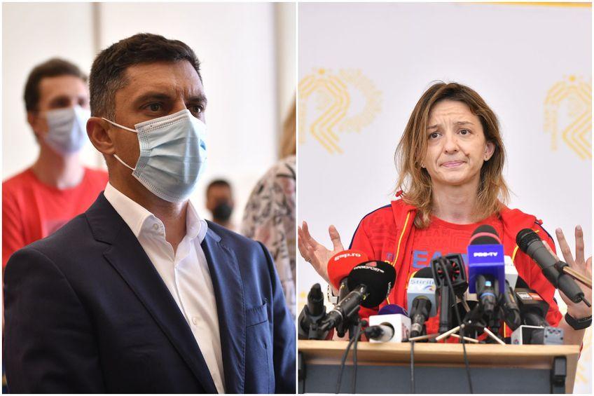 Eduard Novak (stânga) şi Ana Maria Popescu