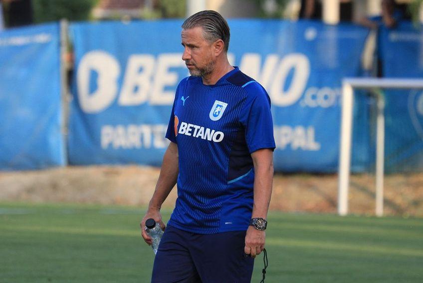 """După 0-1 în Albania și 0-0 pe """"Oblemenco"""", CSU Craiova a fost eliminată din Conference League de KF Laci. Laurențiu Reghecampf, antrenorul oltenilor, nu face o dramă din debutul ratat în Bănie."""
