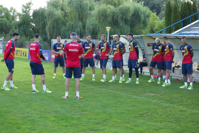 Antrenament echipa națională de fotbal a României Foto: FRF