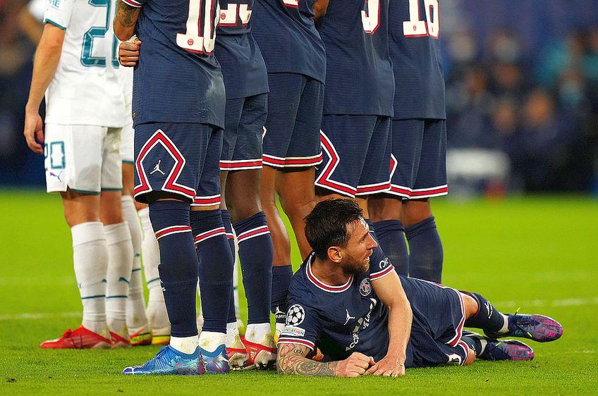 Leo Messi, în finalul meciului PSG - Man. City / Sursă foto: Imago