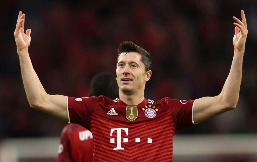 Robert Lewandowski (33 de ani) s-a distrat în partida Bayern Munchen - Dinamo Kiev din grupele Ligii Campionilor.
