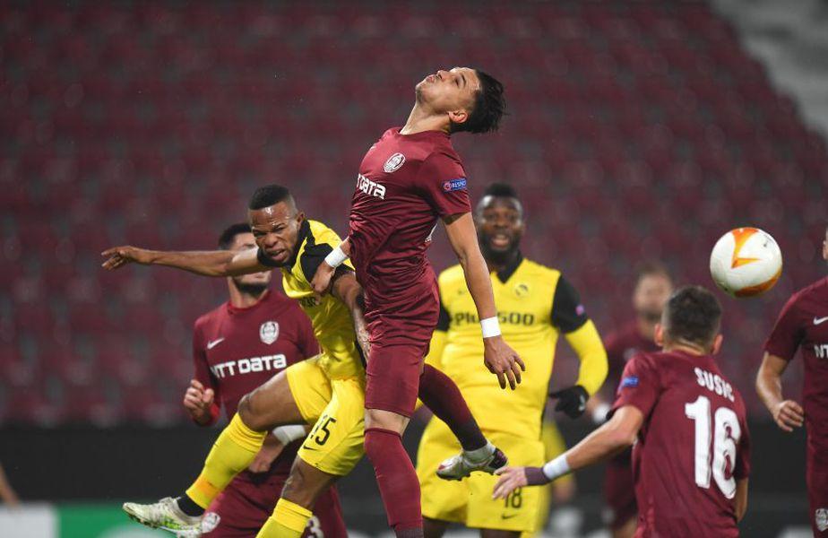 CFR Cluj și Young Boys Berna au remizat, scor 0-0, în etapa secundă a grupei A din Europa League.