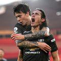 """Manchester United s-a impus în deplasarea de la Southampton, scor 3-2. Edinson Cavani a marcat o """"dublă"""" în finalul partidei."""
