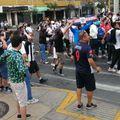 Fanii furioși ai Alianzei au ieșit pe străzi și s-au bătut cu polițiștii // foto: msn.com