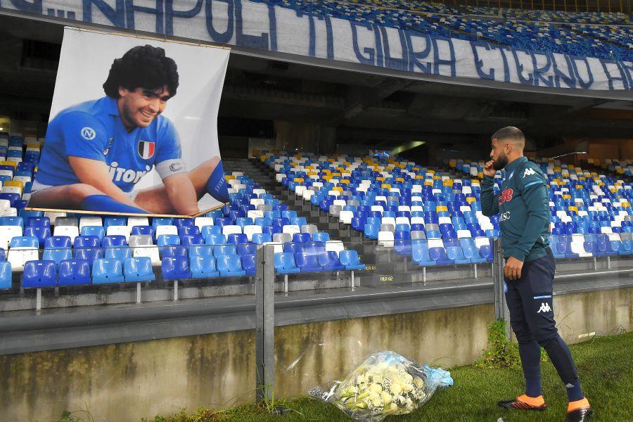 Napoli - AS Roma omagii Diego Maradona