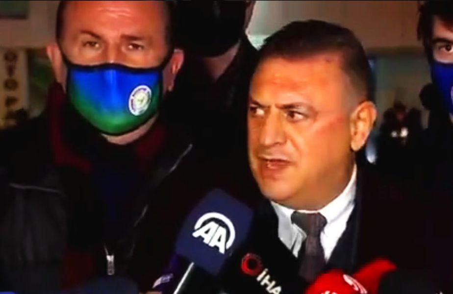 """""""Poate Șumudică l-a înjurat de mamă pe arbitru, în română. Habar n-am de ce i-a arătat cartonașul roșu. Arbitrul a fost evident de partea lui Fenerbahce astăzi""""."""