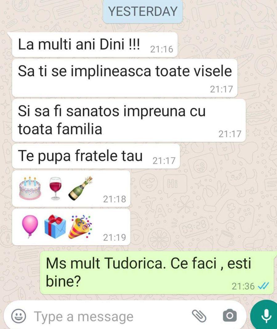 """Mesajul trimis aseară de Martin Tudor pe WhatsApp: """"Nu pot să concep că Tudorică a murit"""""""