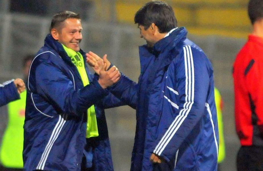 Martin Tudor și Victor Pițurcă au făcut parte din staff-ul Universității Craiova în 2010 // sursă foto: sportpictures.eu