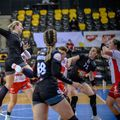 Andreea Rotaru în acțiune în meciul cu Bistrița FOTO Dan Potor (Sf. Gheorghe)