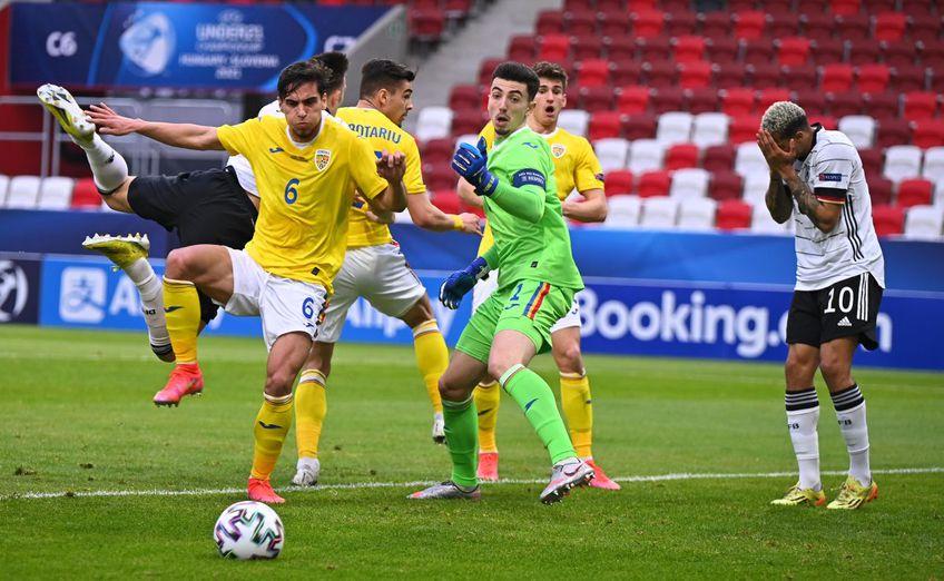 România U21 a remizat cu Germania U21, 0-0, în ultimul meci al grupelor Campionatului European de tineret. Naționala lui Mutu este eliminată de la Euro, întrucât Olanda a zdrobit-o pe Ungaria, 6-1.