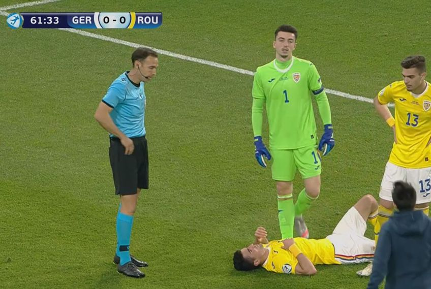 În minutul 64 al meciului Germania U21 - România U21, la scorul de 0-0, Alex Pașcanu (22 de ani, fundaș central) a cerut schimbare.