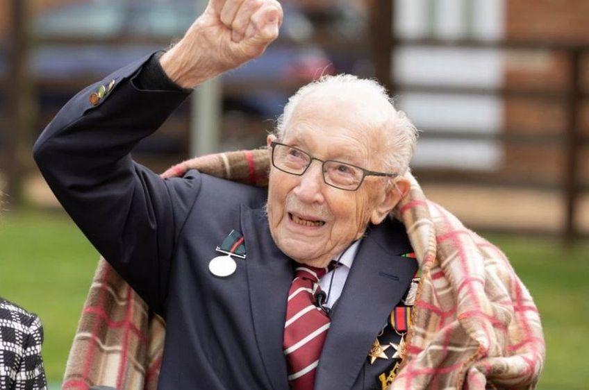 Tom Moore, căpitan în Al Doilea Război Mondial, a făcut 100 de ture în grădina lui strângând 31 milioane de lire din donații