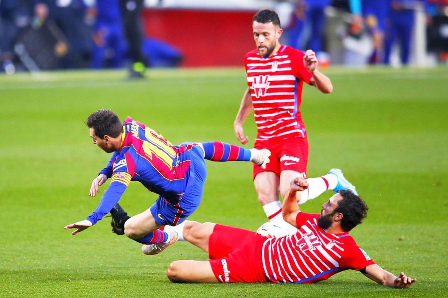 Liderul Barcelonei, Messi, a suferit cu Granada, foto: Guliver/gettyimages