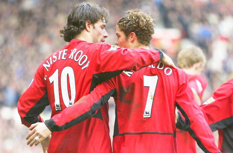 Ruud van Nistelrooy și Cristiano Ronaldo la Manchester United, foto: Guliver/gettyimages