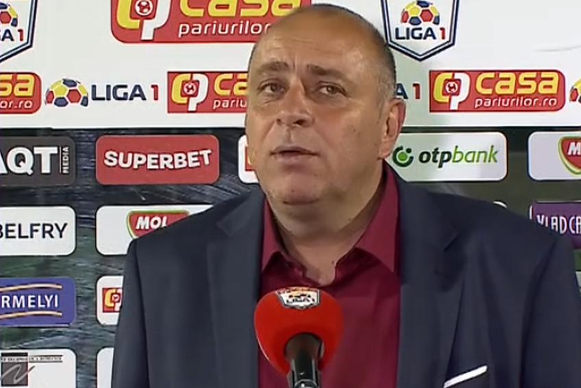 Sepsi a învins-o pe Viitorul, scor 1-0, în finala barajului pentru Conference League. Laszlo Dioszegi, patronul covăsnenilor, și-a stăpânit cu greu emoțiile la finalul partidei.