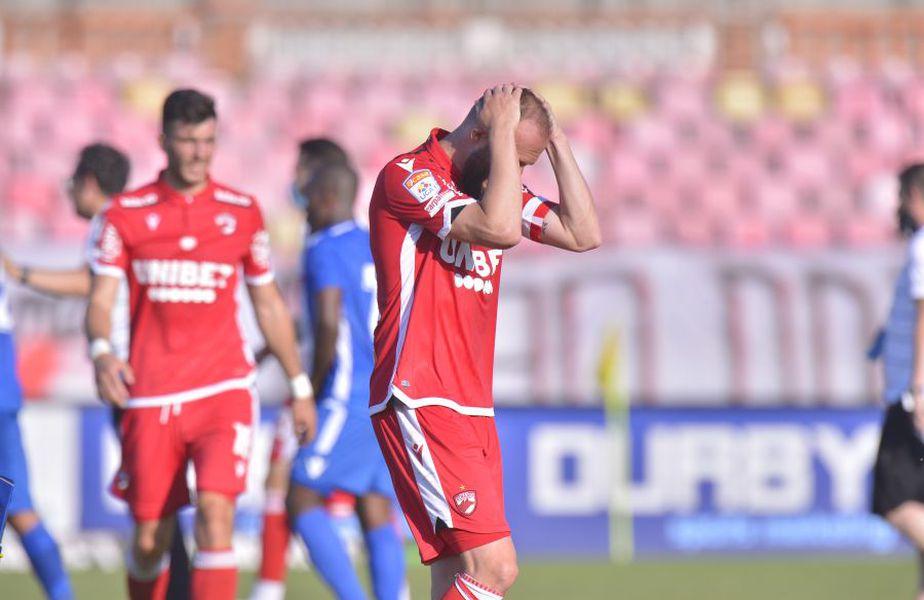 Dinamo este pe ultimul loc în Liga 1