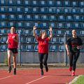Diana Ciucă, Irina Glibko și Dana Marin, prima tură de pregătire FOTO SCM Rm. Vâlcea