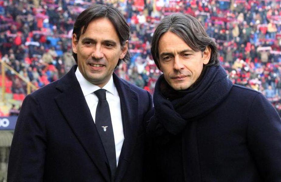 Filippo și Simone Inzaghi vor fi adversari în Serie A