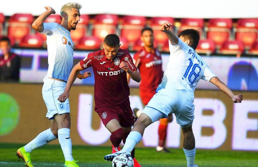 Cel mai probabil, Craiova - CFR Cluj, meciul din ultima etapă, se va juca cu trofeul pe masă