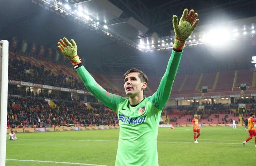 Silviu Lung jr a reuşit 123 de parade la Kayserispor în 29 de jocuri din Super Lig, de şase ori închizând buturile.