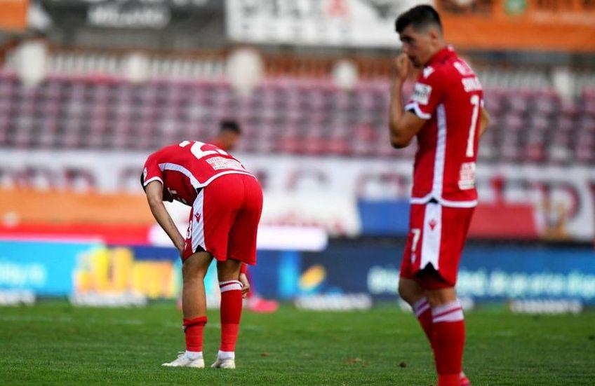 Dinamo este penultima în Liga 1 și are emoții serioase privind retrogradarea
