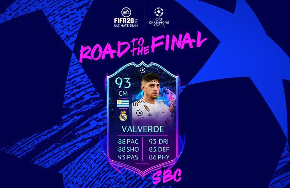 """S-au încheiat campionatele, dar în august revin Liga Campionilor și Europa League. Iar cei de la EA Sports au """"marcat"""" momentul cu un card excelent FIFA 20, cel al lui Fede Valverde, mijlocașul de la Real Madrid."""