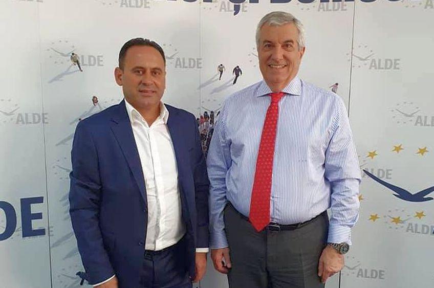 Viorel Ion, candidat la primăria din Buzău, alături de șeful ALDE, Călin Popescu Tăriceanu // foto: Facebook