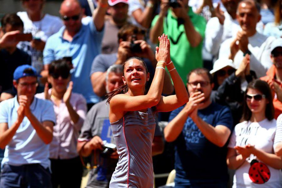 """Andreea Mitu la Roland Garros 2015, când a ajuns în """"optimi"""" Foto Guliver/GettyImages"""