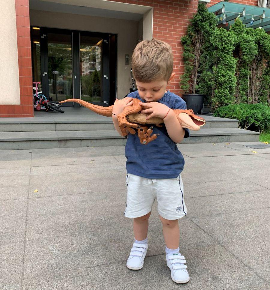 Băiețelul Andreei are o pasiune clară pentru dinozauri