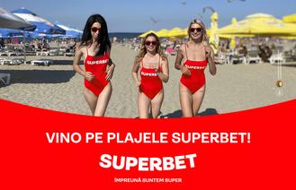 Vino pe plajele Superbet pentru superdistracție toată vara la mare!